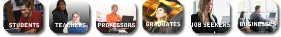our users are students, teachers, professors, graduates, and business owners